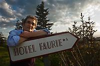 Europe/France/Rhone-Alpes/07/Ardéche/Saint-Agrève: Hôtel Faurie -  le chef Philippe Bouissou [Non destiné à un usage publicitaire - Not intended for an advertising use]