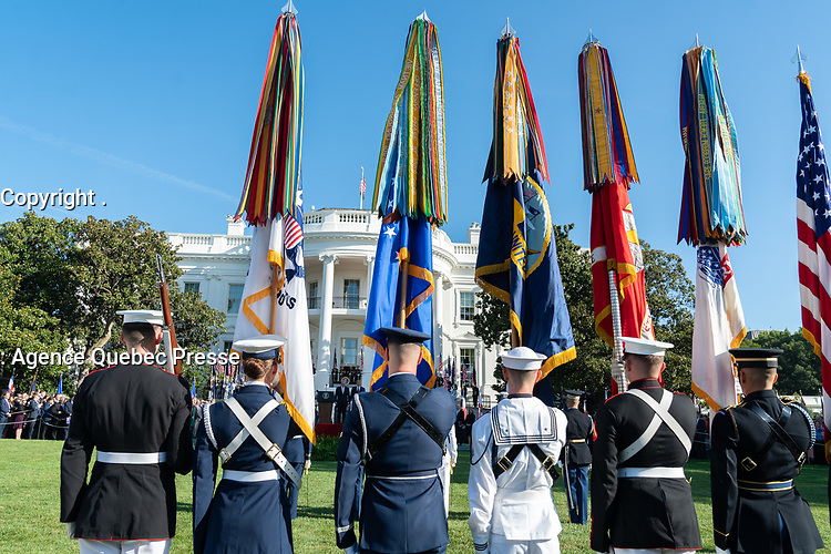 The State Visit Arrival Ceremony for Australia's Prime Minister Scott Morrison Friday, Sept. 20, 2019, on the South Lawn of the White House. (Official White House Photo by Shealah Craighead)