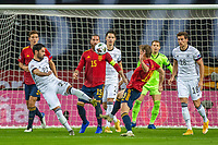 17th November 2020;  Estadio La Cartuja de Sevilla, Seville, Spain; UEFA Nations League Football, Spain versus Germany; Ilkay Guendogan (ger) Leon Goretzka (ger) Sergio Ram(esp) challenge for the ball on the top of the box