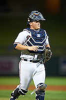 Salt River Rafters catcher Kade Scivicque (50), during a game against the Surprise Saguaros on October 21, 2016 at Salt River Fields at Talking Stick in Scottsdale, Arizona.  Salt River defeated Surprise 3-2.  (Mike Janes/Four Seam Images)
