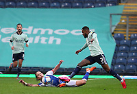 3rd October 2020; Ewood Park, Blackburn, Lancashire, England; English Football League Championship Football, Blackburn Rovers versus Cardiff City; Lewis Holtby of Blackburn Rovers and Leandro Bacuna of Cardiff City compete for the ball