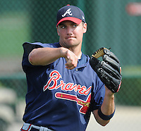 17 March 2009: Michael Fisher of the Atlanta Braves at Spring Training camp at Disney's Wide World of Sports in Lake Buena Vista, Fla. Photo by:  Tom Priddy/Four Seam Images