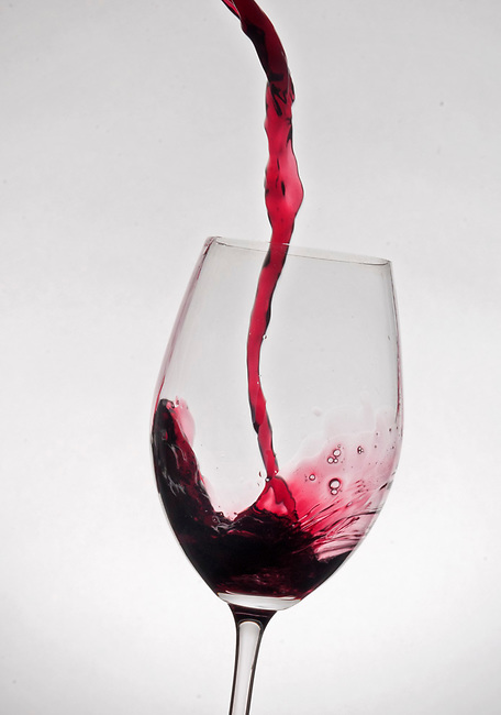 Big wine pour
