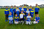 Eoin O'Mahoney (Director of Soccer) with juvenile members of the LB Rovers soccer club who received an FAI  Club Mark Award for best practice in governance, management and administration,