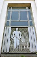 Los Angeles: Alcoa Building, Detail. Photo '85.