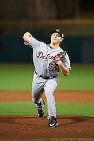 Salt River Rafters pitcher Artie Lewicki (54), of the Detroit Tigers organization, during a game against the Scottsdale Scorpions on October 12, 2016 at Scottsdale Stadium in Scottsdale, Arizona.  Salt River defeated Scottsdale 6-4.  (Mike Janes/Four Seam Images)