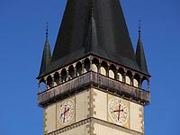 Turm, gotische Kirche St. Ägidius-bazilika sv.Egidia, Bardejov, Presovsky kraj, Slowakei, Europa, UNESCO-Weltkulturerbe<br /> tower, gothic church St. Ägidius-bazilika sv.Egidia, Bardejov, Presovsky kraj, Slovakia, Europe, UNESCO-world heritage