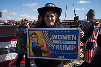 Avoca,PA USA - November 02: People attend rally for candidate Donald Trump on the last day of campaigning on November 02, 20120 in Avoca, Pennsylvania, USA. President Donald Trump made a campaign appearance in this crucial swing state on the day before Election Day. During his speech President Trump strongly suggested again that there would likely be elelctoral fraud  in the city of Philadelphia.  (Photo by Stephen Ferry/VIEWpress)