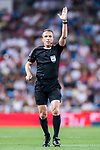 Referee David Fernandez Borbalan in action during their La Liga 2017-18 match between Real Madrid and Valencia CF at the Estadio Santiago Bernabeu on 27 August 2017 in Madrid, Spain. Photo by Diego Gonzalez / Power Sport Images