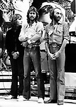 Bee Gees 1979 Robin Gibb, Barry Gibb and Maurice Gibb at UNICEF concert at the UN