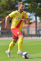 Jonathan Gradit (24) of Rc Lens pictured during a friendly soccer game between Racing Club De Lens and Standard de Liege  during the preparations for the 2021-2022 season , on wednesday 7 of July 2021 in Billy Montigny , France . PHOTO DIRK VUYLSTEKE   SPORTPIX
