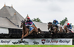 August 18, 2021: #3 Baltimore Bucko (GB) ridden by Richard Condon clears a hurdle during the running of the Grade 1 Jonathan Sheppard Handicap at Saratoga Race Course in Saratoga Springs, N.Y. on August 18th, 2021.<br /> Robert Simmons/Eclipse Sportswire/CSM