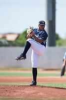 AZL Padres 1 starting pitcher Efrain Contreras (22) delivers a pitch during an Arizona League game against the AZL Royals at Peoria Sports Complex on July 4, 2018 in Peoria, Arizona. The AZL Royals defeated the AZL Padres 1 5-4. (Zachary Lucy/Four Seam Images)