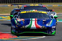 #47 Cetilar Racing Ferrari 488 GTE EVO LMGTE Am, Roberto Lacorte, Giorgio Sernagiotto, Antonio Fuoco, 24 Hours of Le Mans , Test Day, Circuit des 24 Heures, Le Mans, Pays da Loire, France