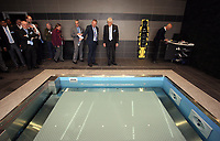 Pictured: Swansea University Richard B Davies is shown the Hydro unit Tuesday 04 April 2017<br />Re: Official opening of the Fairwood Training Complex of Swansea City FC, Wales, UK