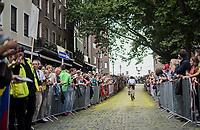 "Fabio Felline (ITA/Trek-Segafredo) on the Yellow Brick Road<br /> <br /> ""Le Grand Départ"" <br /> 104th Tour de France 2017 <br /> Team Presentation in Düsseldorf/Germany"