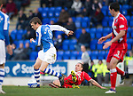 St Johnstone v Ross County...17.11.12      SPL.Murray Davidson and Mark Fotheringham.Picture by Graeme Hart..Copyright Perthshire Picture Agency.Tel: 01738 623350  Mobile: 07990 594431