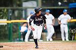 #25 Kitayama Miku of Japan runs after bating during the BFA Women's Baseball Asian Cup match between South Korea and Japan at Sai Tso Wan Recreation Ground on September 2, 2017 in Hong Kong. Photo by Marcio Rodrigo Machado / Power Sport Images