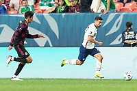 DENVER, CO - JUNE 6: Sebastian Lletget #17 of the United States moves with the ball during a game between Mexico and USMNT at Mile High on June 6, 2021 in Denver, Colorado.