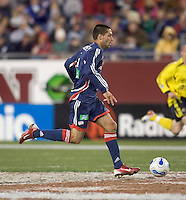 Clint Dempsey runs with the ball. NE Revolution defeat Columbus Crew, 1-0, at Gillette Stadium and secure home field advantage in the Eastern Conference Semifinal Series on October 14, 2006.