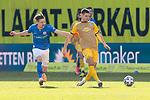 20.02.2021, xtgx, Fussball 3. Liga, FC Hansa Rostock - SV Waldhof Mannheim, v.l. Bentley Baxter Bahn (Hansa Rostock, 8), Marco Schuster (Mannheim, 6) <br /> <br /> (DFL/DFB REGULATIONS PROHIBIT ANY USE OF PHOTOGRAPHS as IMAGE SEQUENCES and/or QUASI-VIDEO)<br /> <br /> Foto © PIX-Sportfotos *** Foto ist honorarpflichtig! *** Auf Anfrage in hoeherer Qualitaet/Aufloesung. Belegexemplar erbeten. Veroeffentlichung ausschliesslich fuer journalistisch-publizistische Zwecke. For editorial use only.