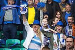 St Johnstone v Dundee United....17.05.14   William Hill Scottish Cup Final<br /> Jubilant saints fans cheer on the team<br /> Picture by Graeme Hart.<br /> Copyright Perthshire Picture Agency<br /> Tel: 01738 623350  Mobile: 07990 594431