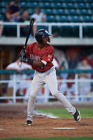 Idaho Falls Chukars Isaiah Henry (22) at bat during a Pioneer League game against the Orem Owlz at The Home of the OWLZ on August 13, 2019 in Orem, Utah. Orem defeated Idaho Falls 3-1. (Zachary Lucy/Four Seam Images)
