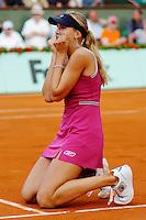4-6-06, Tennis ,Paris, Roland Garros, Nicole Vaidisova defeats Mauresmo
