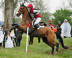 LEXINGTON, KY - APRIL 30: #52 In It To Win It and Avery Klunick compete in the Cross Country Test for the Rolex Kentucky 3-Day Event at the Kentucky Horse Park.  April 30, 2016 in Lexington, Kentucky. (Photo by Candice Chavez/Eclipse Sportswire/Getty Images)