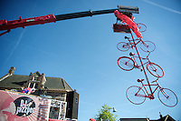 Pink bikes everywhere at the Grande Partenza in Apeldoorn (NLD)<br /> 99th Giro d'Italia 2016 on the evening before the 1st stage