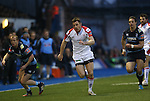 Ulster wing Tommy Bowe.<br /> RaboPro 12<br /> Cardiff Blues v Ulster<br /> Cardiff Arms Park<br /> 29.03.14<br /> <br /> ©Steve Pope-SPORTINGWALES