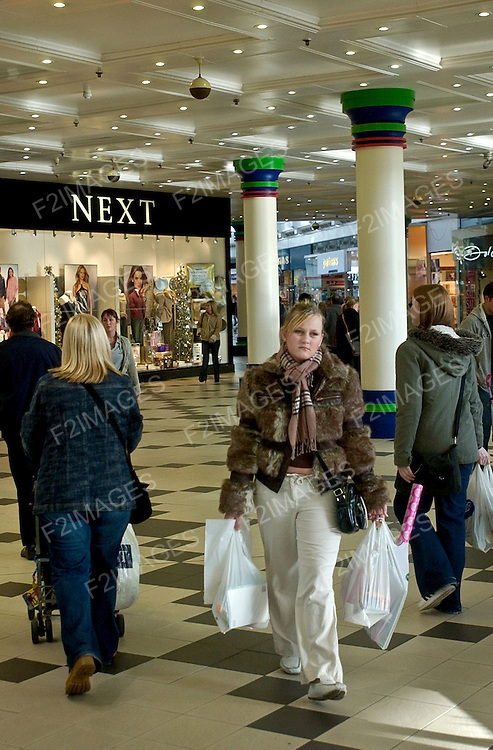 Shopping in Liverpool in a modern mall.