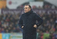 Swansea City manager Carlos Carvalhal during the Premier League match between Swansea City and Tottenham Hotspur at the Liberty Stadium, Swansea, Wales, UK. Tuesday 02 January 2018