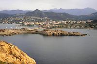 - Corsica, Ile Rousse, view of the city from de la Pietra island<br /> <br /> - Corsica, Ile Rousse, veduta della città da l'isola de la Pietra
