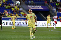 Harrison, NJ - Wednesday July 06, 2016: Jesus Moreno during a friendly match between the New York Red Bulls and Club America at Red Bull Arena.