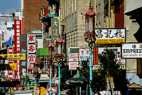San Francisco, California.  Grant Street Business Signs, Chinatown.