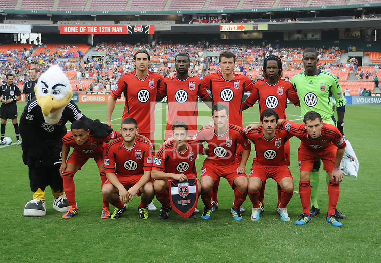 DC United starting eleven.   Everton defeated DC United 3-1 in a international friendly ,at RFK Stadium, Saturday July 23, 2011.