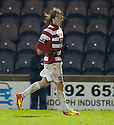 Accies Stevie May celebrates after he scores their second goal.