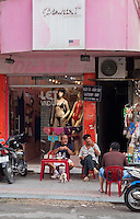 Sexy Lingerie shop in the streets of Saigon or in Vietnamese Ho Chi Minh City where old and new architecture mix in harmony. The bustling Metropolis of South Vietnam.