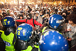 © Joel Goodman - 07973 332324 . 30/11/2010 . London , UK . Students and their supporters march and demonstrate in Trafalgar Square in London against government cuts to student support , Educational Maintenance Allowance ( EMA ) and rising university tuition fees . Photo credit : Joel Goodman