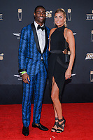 MIAMI, FL - FEBRUARY 1: Pierre Desir and guest attend the 2020 NFL Honors at the Ziff Ballet Opera House during Super Bowl LIV week on February 1, 2020 in Miami, Florida. (Photo by Anthony Behar/Fox Sports/PictureGroup)