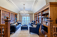 BNPS.co.uk (01202) 558833. <br /> Pic: TailorMade/BNPS<br /> <br /> Pictured: Library. <br /> <br /> A multi-millionaire is hoping to have a shot at selling his luxury mansion - by throwing a hi-tech golf simulator into the deal.<br />  <br /> Golf-loving Barry Bester put the waterfront property on Sandbanks, Dorset, on the market for £11m last year.<br />  <br /> He is now offering his £40,000 state-of-the-art simulator he has had built on the grounds with the sale.