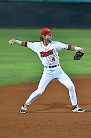 Orem Owlz shortstop Keith Grieshaber (4) between innings during the game against the Billings Mustangs in Game 2 of the Pioneer League Championship at Home of the Owlz on September 16, 2016 in Orem, Utah. Orem defeated Billings 3-2 and are the 2016 Pioneer League Champions. (Stephen Smith/Four Seam Images)