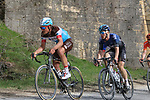The peloton including Silvain Dillier (SUI) AG2R La Mondiale on sector 5 Lucignano d'Asso during Strade Bianche 2019 running 184km from Siena to Siena, held over the white gravel roads of Tuscany, Italy. 9th March 2019.<br /> Picture: Seamus Yore   Cyclefile<br /> <br /> <br /> All photos usage must carry mandatory copyright credit (© Cyclefile   Seamus Yore)