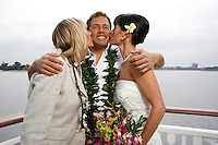 March 14, 2009:  Ryan and Nicole Levinson wedding aboard the Bahia Belle on Mission Bay, San Diego, CA, USA.