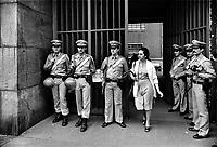 - trial to the terrorist group Red Brigades, security service around the court (Milan, june 1977)<br /> <br /> - processo al  gruppo terroristico Brigate Rosse, servizio di sicurezza intorno al tribunale (Milano, giugno 1977)