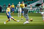 Celtic v St Johnstone…12.05.21  SPFL Celtic Park<br />Glenn Middleton's shot is blocked<br />Picture by Graeme Hart.<br />Copyright Perthshire Picture Agency<br />Tel: 01738 623350  Mobile: 07990 594431