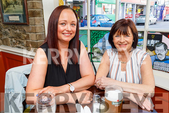 Clare Dwane and Josephine Healy enjoying the evening in the Brogue Inn on Saturday.