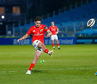 23th April 2021; RDS Arena, Dublin, Leinster, Ireland; Rainbow Cup Rugby, Leinster versus Munster; Joey Carbery of Munster kicks the conversion