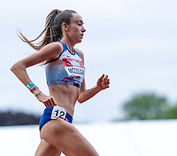 5th June 2021; Birmingham University Athletics Track, Birmingham, Midlands, England; European 10000 Metre Finals, British Olympic Trials 10000 Metre; Eilish McColgan on her way to winning the women's race and qualifying for Tokyo